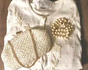 Monet Pearl Triple Strand Bracelet