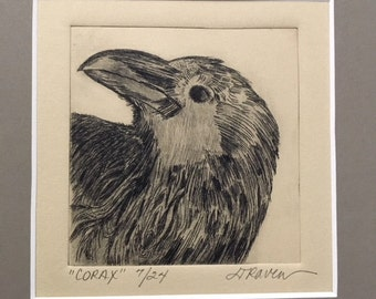 Corax -  Limited Edition Drypoint Print