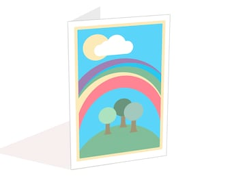 Fun colourful rainbow card, perfect for daughters birthday, blank for own message, card for sister, LGBT card, friendship card, get well
