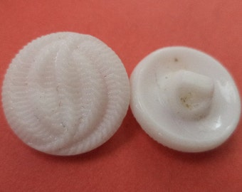 9 glass buttons white glass jacket buttons buttons 18 mm (5622)