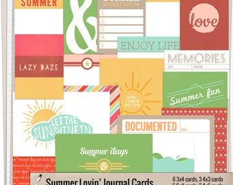 Summer Lovin' Journal Cards - Instant Download - Printable journaling cards for Project Life and digital scrapbooking by Mira Designs