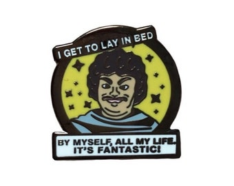 Lonely Nacho Libre Collaboration Enamel Pin with @verynicedesigns | Loneliness collectible flair for your hat, lapel, jacket