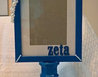 Zeta Phi Beta Inspired Pedestal Photo Frame
