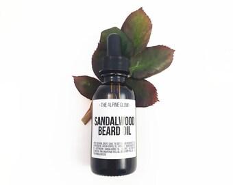 SANDALWOOD BEARD OIL - Mustache Oil - Beard Moisturizer - Gift for Men - Boyfriend Gift - Natural Beard - Beard Conditioner - Beard Grooming