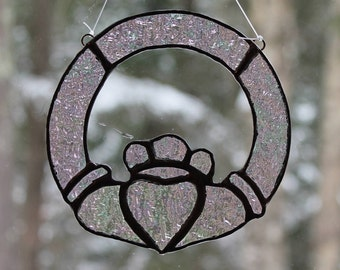 Stained Glass Claddagh