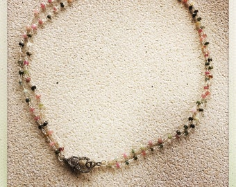 """Pave diamond lobster clasp chain 20"""""""