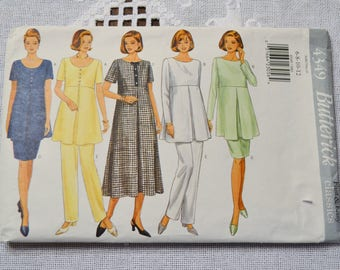 Butterick 4349 Sewing Pattern Misses Maternity Dress Top Skirt Pants Size 6 8 10 12 DIY Sewing Vintage Sewing Pattern PanchosPorch