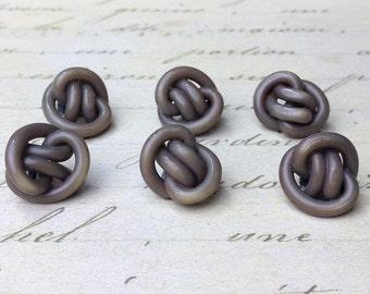 6 Extruder Celluloid  Knot Buttons 15 mm