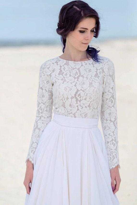 Eirene - long sleeve bridal top