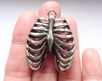 1 Rib Cage Anatomical Antique Silver - ANA06