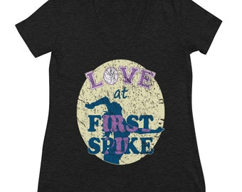 Volleyball LOVE at First Spike distressed Look