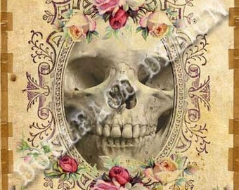 INSTANT Digital DOWNLOAD - Gothic Victorian Skull - LUST - Wedding Anniversary Love Valentine Greeting Card - Printable