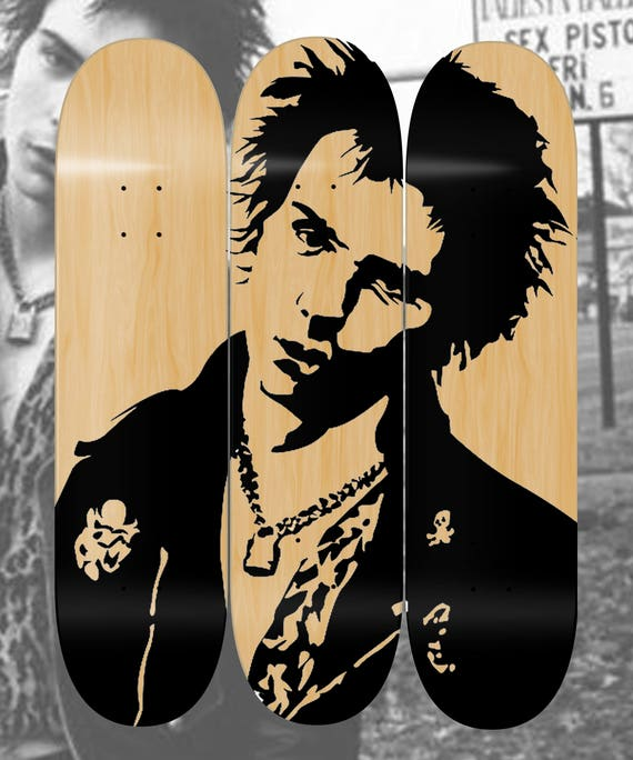 Sid Vicious 3 deck Skate collage