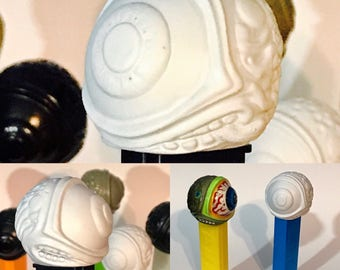 Custom/Fantasy DIY Gi (D Eye Y Guy) Paint Your Own Pez Dispenser / Funcional Art