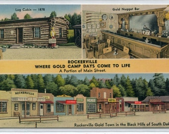 Rockerville Ghost Town Roadside Attraction Black Hills South Dakota postcard
