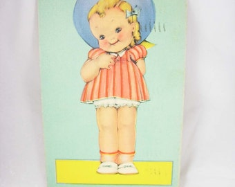 Vintage WWII KEWPIE Risque Postcard Comic Cartoon Doll 1942 Used One Cent Stamp