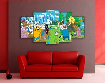 Adventure Time canvas, Finn and Jake canvas, Adventure Time, Lands of Ooo, Lands of Ooo canvas, Finn and Jake, Adventure Time print