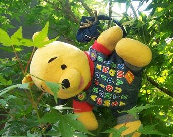 Pooh Bear in Denim ABC Bag