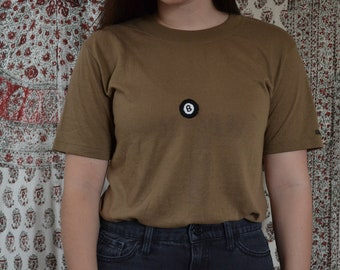 Hand Embroidered Magic 8 Ball Vintage T-Shirt – Upcycled Thrifted Shirt - Ask Again Later