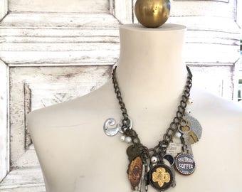 Vintage Findings Assembled Necklace