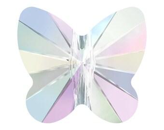 6mm Swarovski Butterfly AB 5754 Crystal Bead - 10 pk