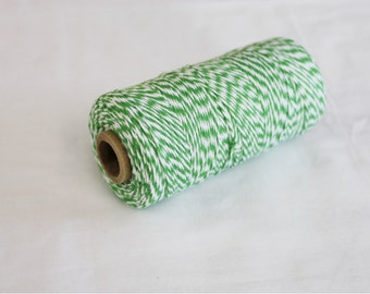 Green and White Bakers Twine - 10 yards