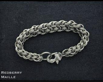 Titanium Kinged Vipera Berus - Titanium Bracelet - Titanium EDC