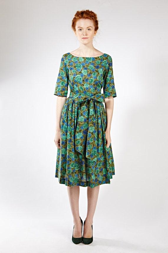 1950 Partei Kleid 1950 Prom Kleid Cocktailkleid grün 1950 grün