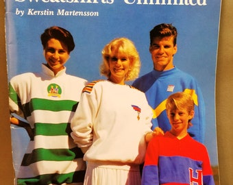 Kwik Sews Sweatshirts Unlimited book, Master Pattern, by Kerstin Martensson, sizes 28 to 48, 8 sizes