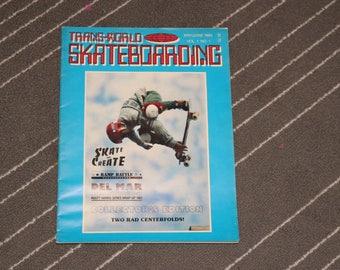 Transworld SKATEBOARDING Magazine #1 (1983) Tony Hawk Vintage 1980s Skateboard Stacy Peralta Powell Bones Brigade Vans Shoes Van Doren
