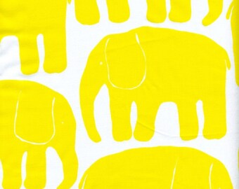 Fabric white yellow retro Elephants Cotton Fabric Kids Fabric Scandinavian Design Scandinavian Textile