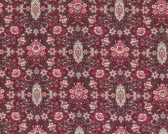 Josephine Rose Cotton Fabric Rose Damask by Lecien 30883-30