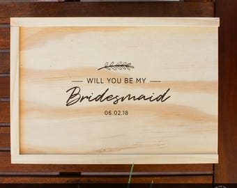 4 Bridal Party Gift Box, Will you be my bridesmaid, Will you be my groomsman, Will you be my bestman, Will you be my maid of honour, custom