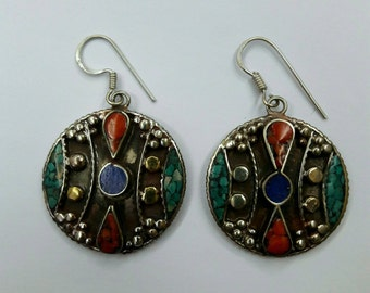 Tibetan earring,tibetan jewelry,nepal earring,nepal jewelry