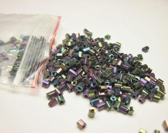 bag of seed beads (2 mm) metallic glass (R118)