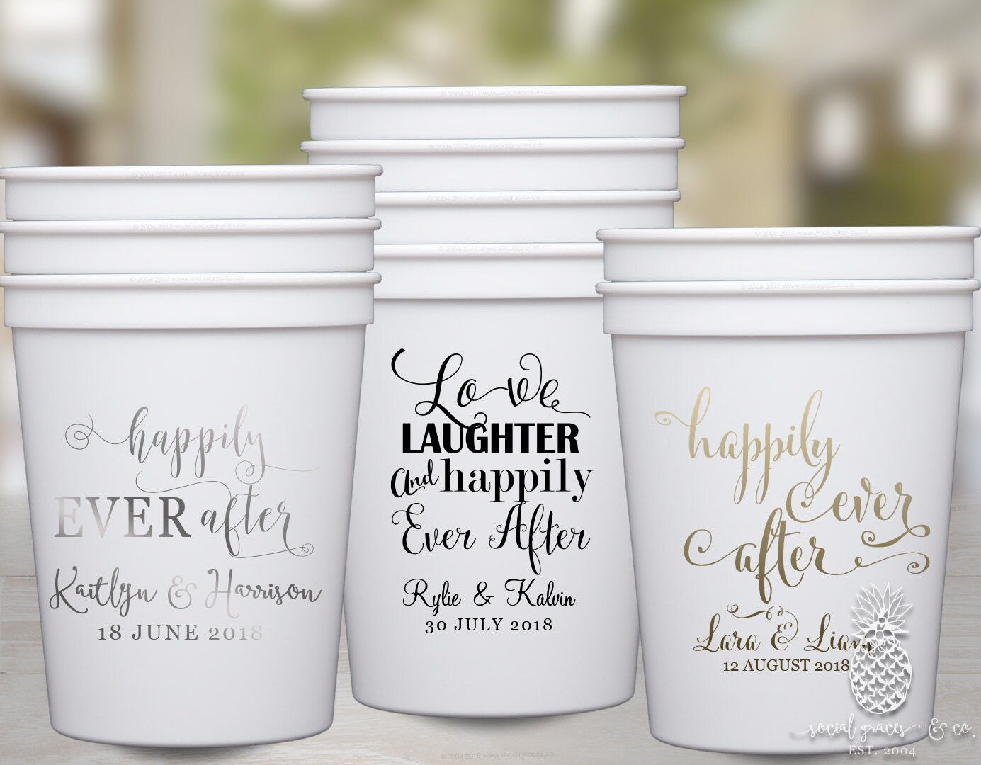 Personalized Cups Monogram Cups Custom Party Cups