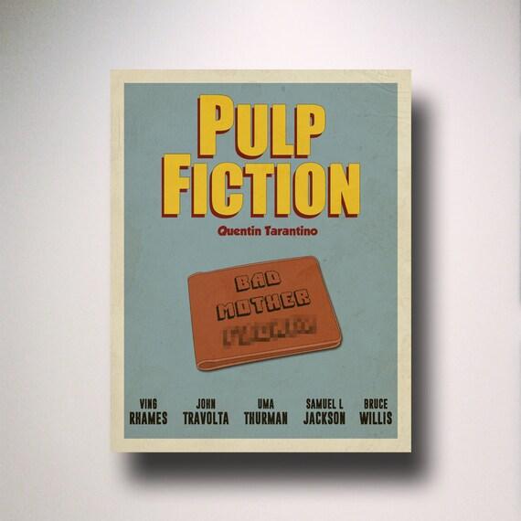 Pulp Fiction Minimalist Movie Poster Wall Art Film
