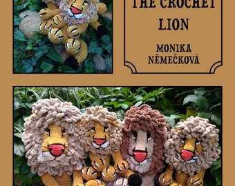 How to make the crochet lion. Pattern. Step by step.