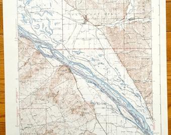Antique Nebo, Illinois & Clarksville, Missouri 1942 US Geological Survey Topographic Map – Pleasant Hill, Bardin, Atlas, Ross, Martinsburg