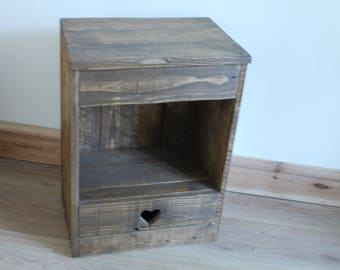 Bedside Cabinet/Nightstand Made From Recycled Pallet Wood
