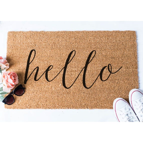 Charmant Hello Doormat Welcome Mat Cute Doormat Unique Doormat