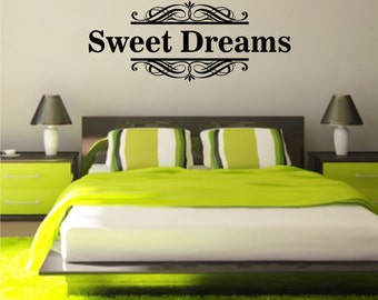 Sweet Dreams Vinyl Art Home Wall Bedroom Quote Decal Sticker Decoration Decor