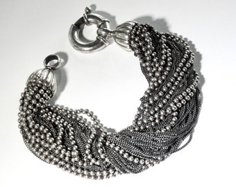 Tiffany sterling mesh bracelet Rare