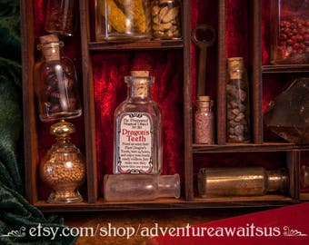 Dragon's Teeth - glass bottle be prepared magical object fairytale legend greek myth story storybook grimm soldier protection warrior