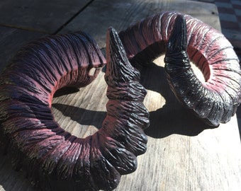 "Ready To Ship! - Horns ""Kraken"" Wearable Ram Horns - cosplay, costume, rugged, comfortable. -"