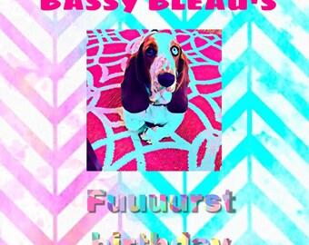 Digital dog pawty invitations custom made