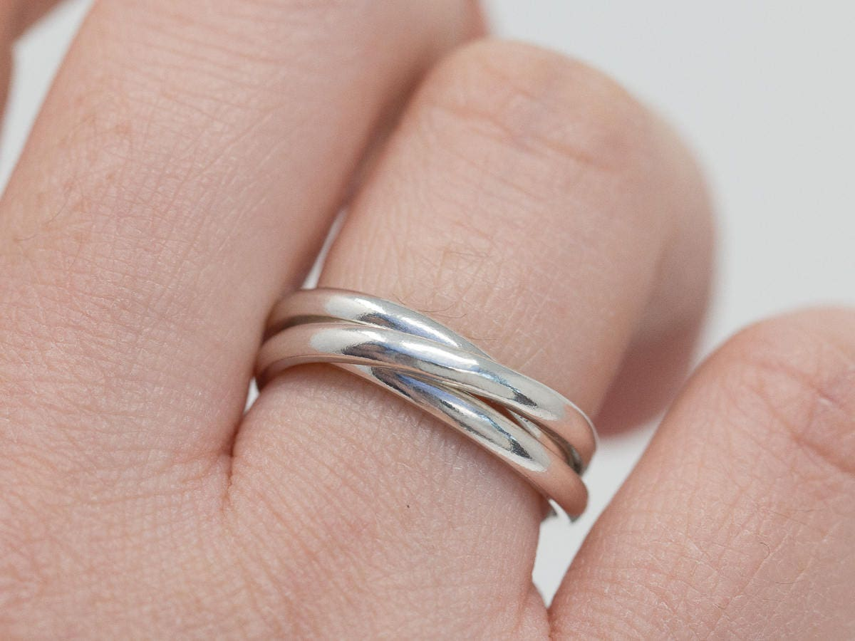 Russian wedding ring hand