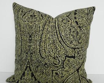 Tommy Bahama Designer Pillow Cover, Decorative Throw Pillow Cover Molokai, Black, Cushion Cover, 18 x 18, 20 x 20