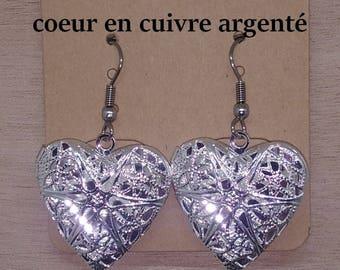 1 pair of secret stainless steel Heart Earrings