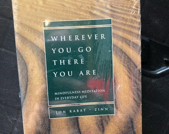 Wherever YOU Go There You Are Jon Kabat Zinn Mindfulness Meditation Audio Tape Cassette Unopened